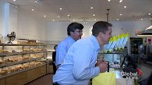 Federal Election 2019: Scheer campaigns at bakery, purchases pastries
