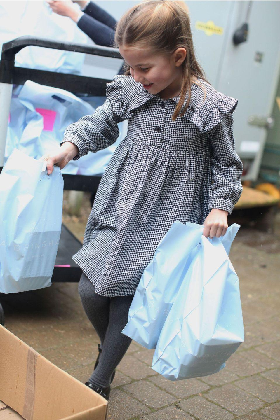 "<p>Ahead of Princess Charlotte's fifth birthday, Kensington Palace released a series of portraits of the young royal taken by her mother, the Duchess of Cambridge. The photos show Charlotte volunteering with her family during the coronavirus crisis. <a href=""https://www.townandcountrymag.com/society/tradition/a32307108/kate-middleton-princess-charlotte-5th-birthday-sandringham-photos/"" rel=""nofollow noopener"" target=""_blank"" data-ylk=""slk:See them all here."" class=""link rapid-noclick-resp"">See them all here. </a></p>"