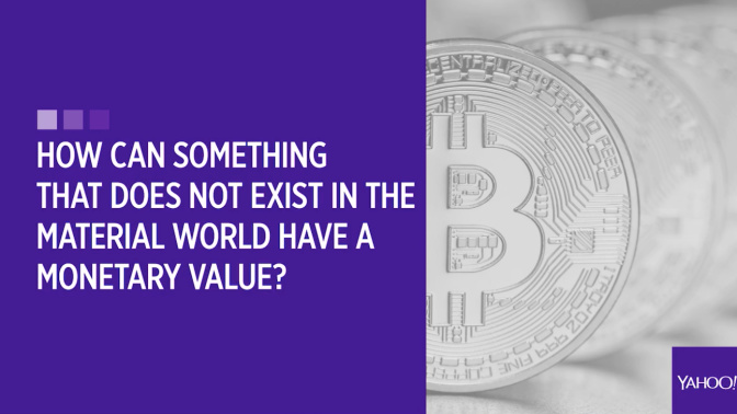 How can something that does not exist in the material world have a monetary value?