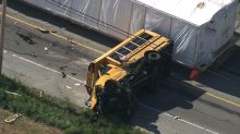 Officials search for driver who allegedly caused school bus crash in Pa