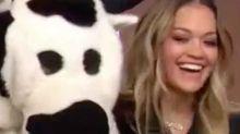 Rita Ora befriends Sunrise's Cash Cow