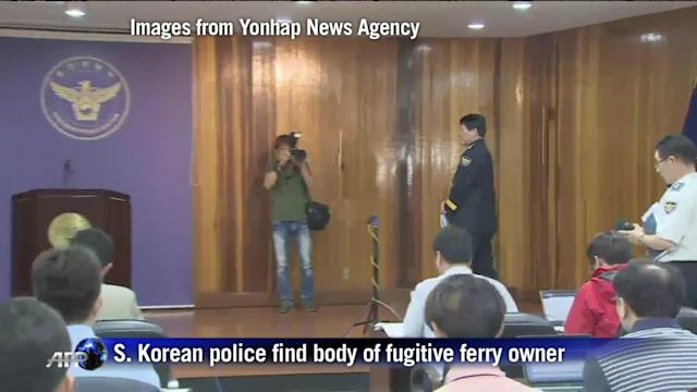 S. Korean police find body of fugitive ferry owner