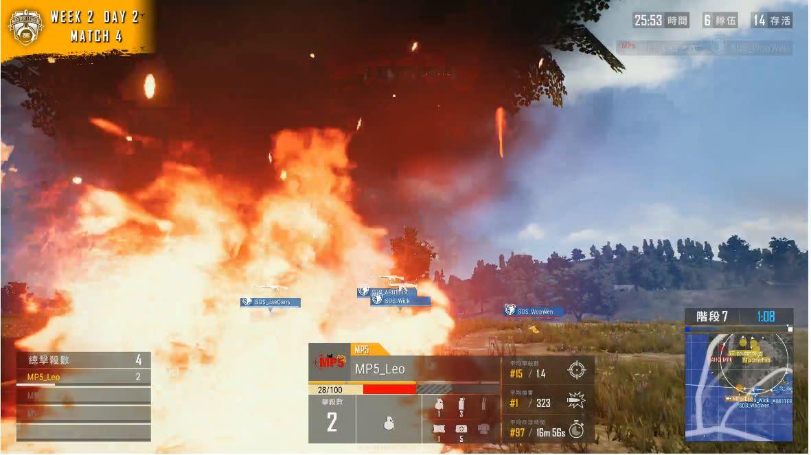 ▲Leo死之前還靠手榴彈收掉SDS一名隊友。