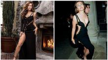 Elizabeth Hurley recreates iconic safety pin dress moment