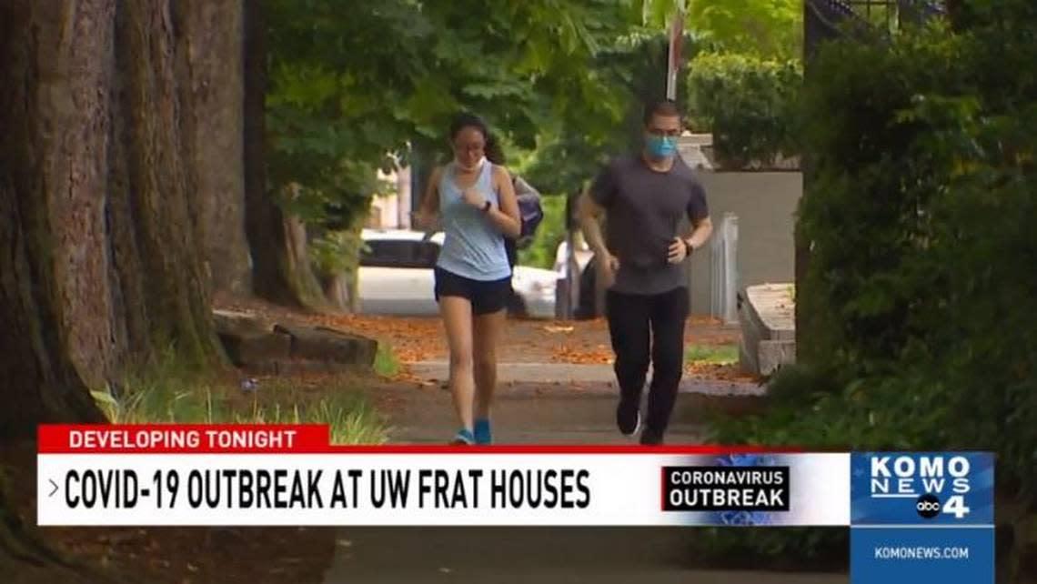 Coronavirus outbreak infects 105 in University of Washington frat houses, report says