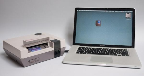 NES becomes world's least efficient flash drive (video)