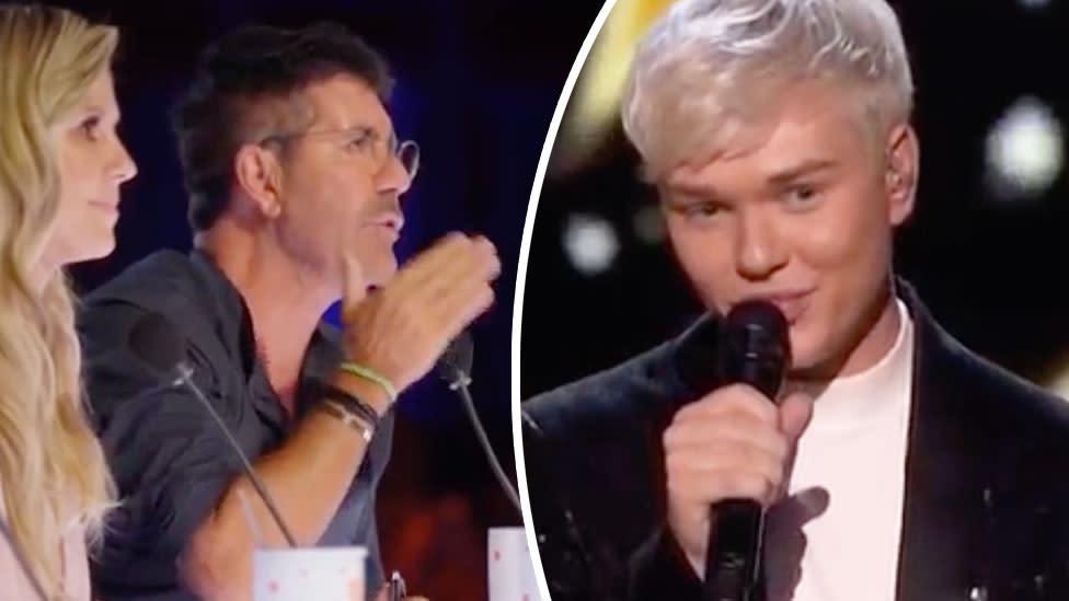Simon Cowell calls Jack Vidgen's voice 'extraordinary' on America's Got Talent