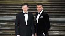 Brooklyn and David Beckham dance to Peter Andre together