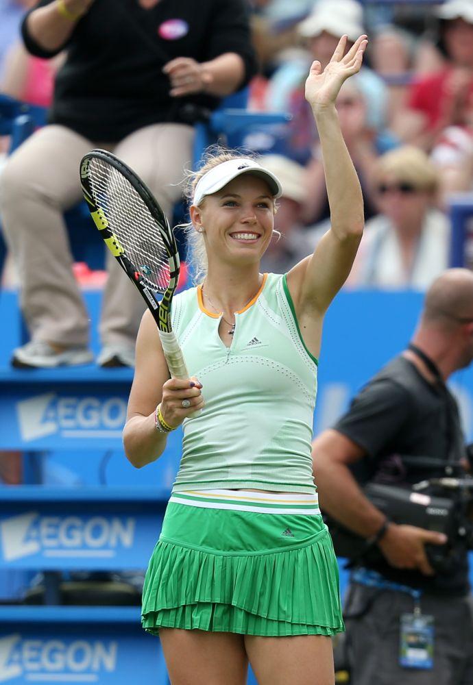 Wozniacki wins, Kvitova pulls out at Eastbourne