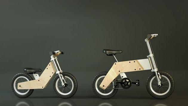 As your kid grows, this bike will transform to fit them