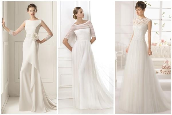 los vestidos de novia con caída, tendencia en 2015