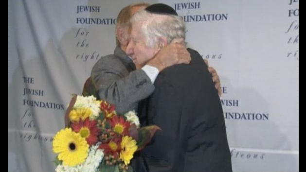 Holocaust survivor meets man who saved him from the Nazis