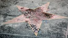 Someone just destroyed Donald Trump's star on the Hollywood Walk of Fame with a pickaxe