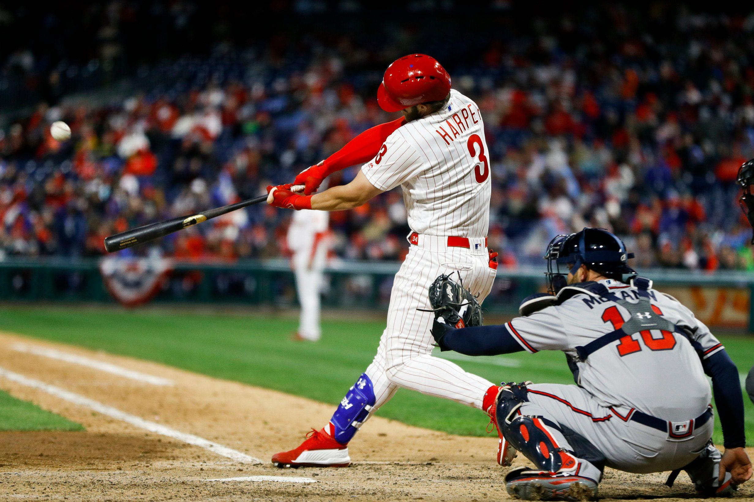6c19096b Phillies-Braves: Bryce Harper scorches another homer