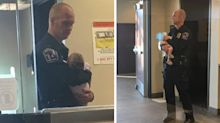 Caring policeman captured going beyond the call of duty