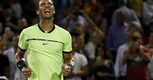 Tennis - WTF - L'amorti de Fabio Fognini fait déchausser Rafael Nadal à Miami