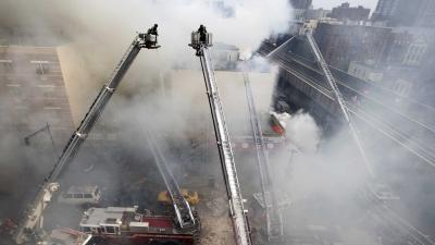 Raw: NYC Building Explodes, Injuries Reported