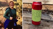 The note this girl found on her hike will move you to tears
