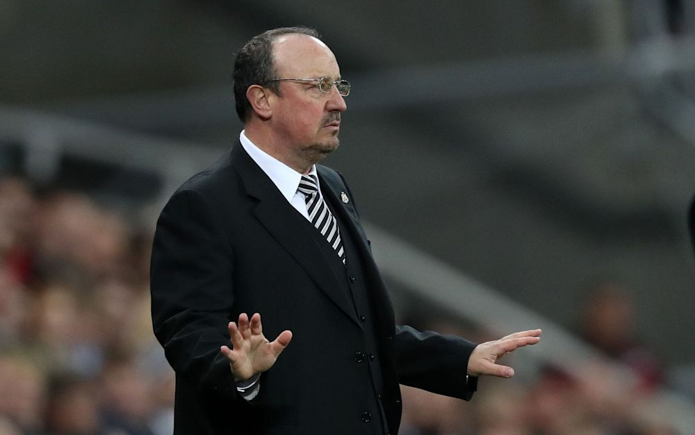 Rafa Benitez asks for calm during Newcastle's 1-1 draw with Leeds  - Rex Features