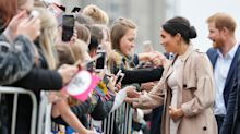 Why the Duchess of Sussex has been seen cradling her baby bump so regularly