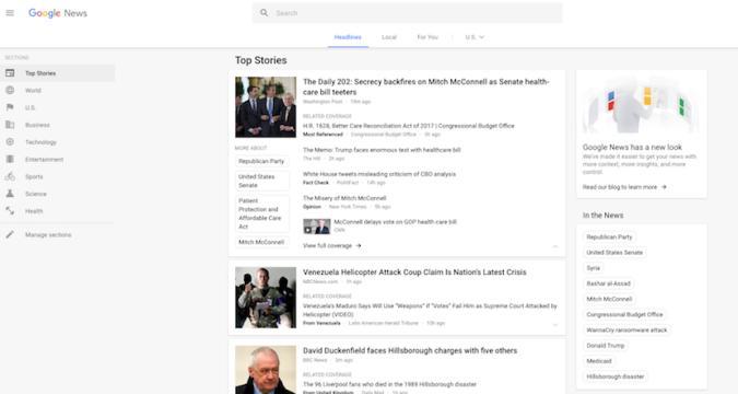 Aufgefrischt: Google News bekommt neues Design