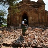 Myanmar sends police, soldiers to protect ancient temples damaged in quake