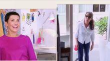 VIDEO Les reines du shopping : Chantal Lauby surprend une candidate en pleine séance d'essayage