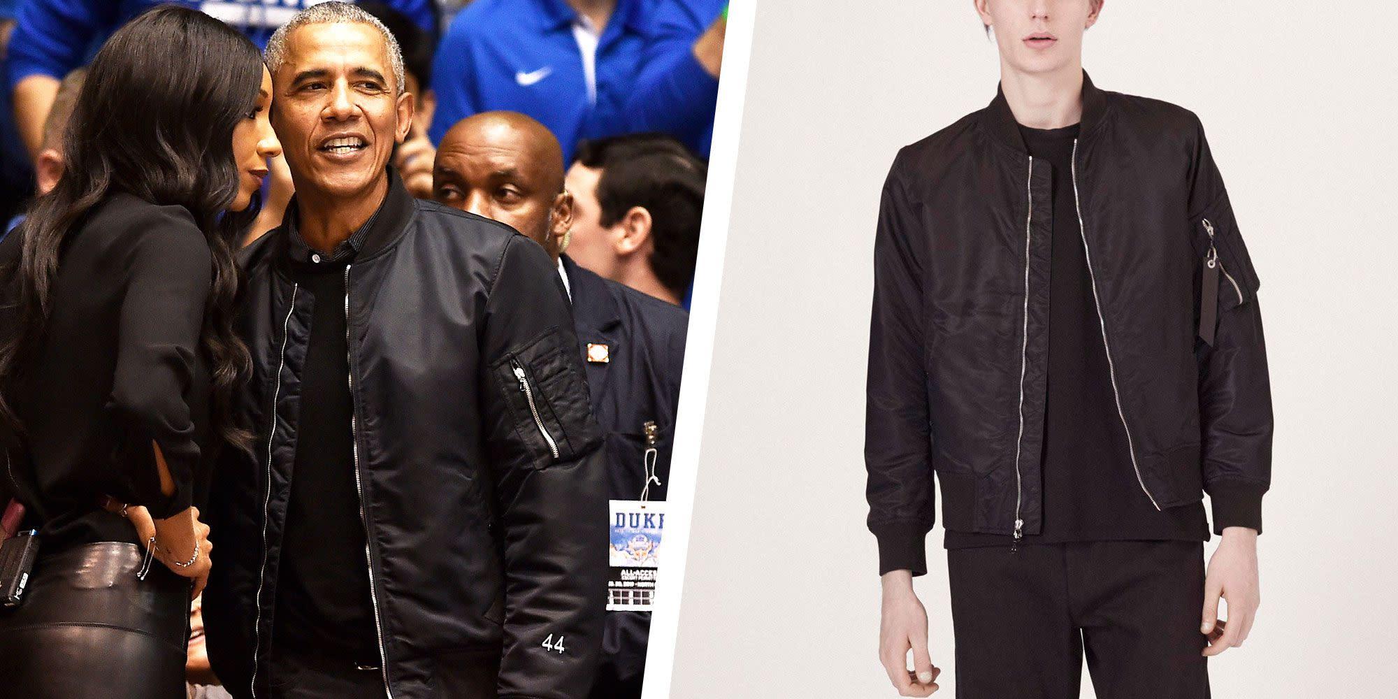 ac143fea3 Get Barack Obama's Undeniably Cool Bomber Jacket Look
