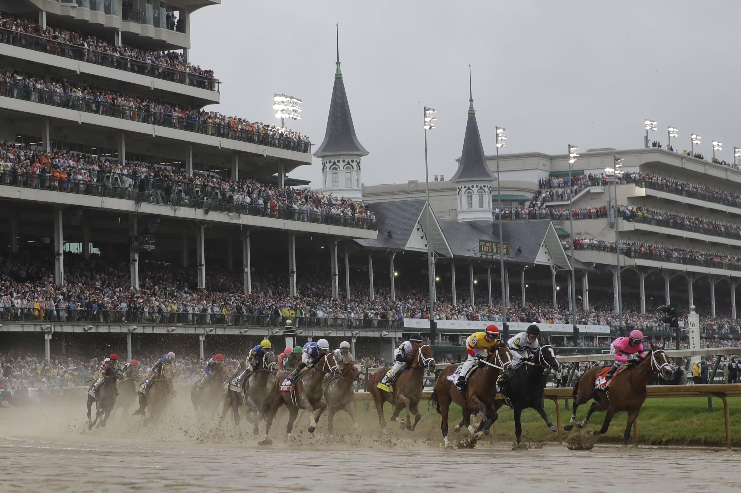 Virus Outbreak-Kentucky Derby Horse Racing