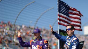 Kyle Busch and Denny Hamlin throw some Twitter shade towards NASCAR's 2019 rules
