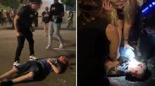 """""""Esto es anarquía"""": golpean brutalmente a un conductor en un inquietante vídeo de las protestas en Portland"""