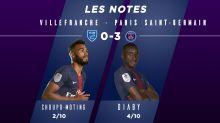 Villefranche - PSG : le Top-Flop