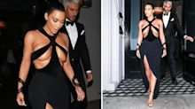 Kim Kardashian just wore one of her most revealing dresses yet