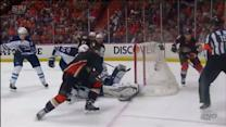 Pavelec makes big series of saves on Cogliano