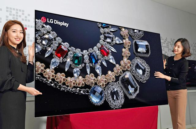 LG shows off the world's first 88-inch 8K OLED display