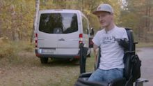 Man born without arms and legs drives brilliant Sprinter van conversion
