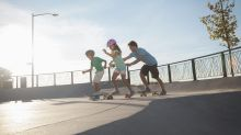 You're never too young or old to🛹skateboard. Get on board with your kids today!