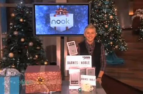 Caption contest: Ellen DeGeneres and her ʞoou giveaway