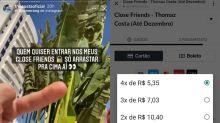 Compraria? Ex de Larissa Manoela vende acesso a 'Melhores Amigos' por R$ 20,00