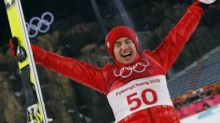 Winter Olympics 2018: Poland's Kamil Stoch defends his men's large hill ski jump title in style at Pyeongchang