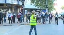 VIDEO | La alocada huida de una alcaldesa chilena para evitar a la prensa