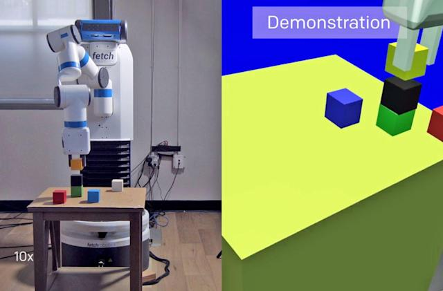 OpenAI's new system lets you train robots entirely in VR