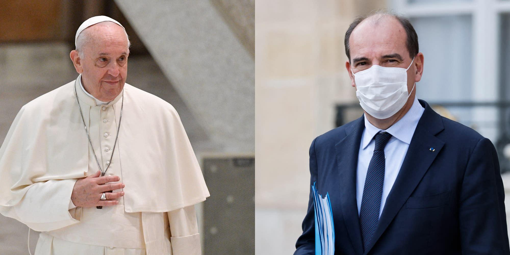 """Pédocriminalité : le Pape François """"se réjouit"""" de l'action de la France, affirme Castex"""