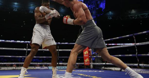 Boxe - Lourds - L'incroyable K.-O. d'Anthony Joshua contre Vladimir Klitschko en vidéo