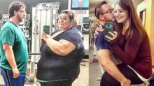 ¡Parecen otras personas! Pareja pierde casi 400 libras y documenta su transformación en Instagram