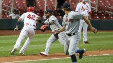 Naquin's hit, Molina's blunder lift Indians over Cards in 12