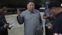 NKorea's Kim inspects new submarine