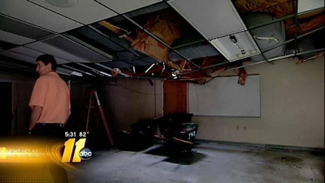 Roof collapse at Durham Christian school
