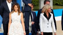 In Belgium, Brigitte Macron and Melania Trump Are Style Opposites