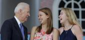 Joe Biden talking to students. (Reuters)